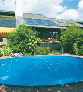 basen ogrzewany słonecznie
