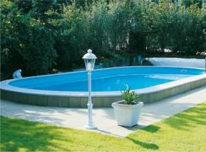 basen podłużny stalowy