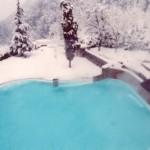 basen w zimie
