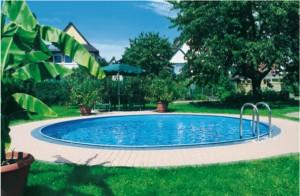 gotowy basen po montażu