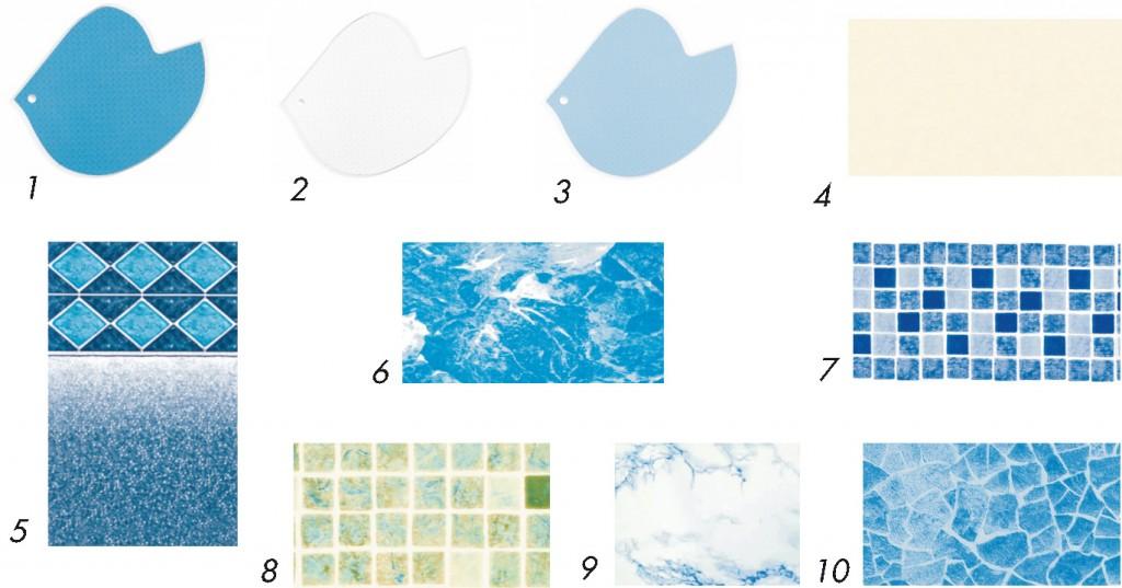 kolory folii basenowej