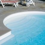 półokrągły brzeg basenu