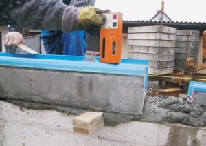 poziomowanie rynny betonowej