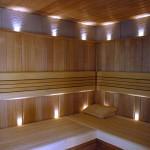 przykład oświetlenia w saunie
