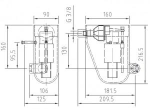 regulator wody mechaniczny wymiary