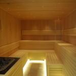 sauna z piecem