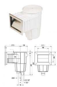 skimmer standard white steel