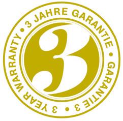 trzy lata gwarancji
