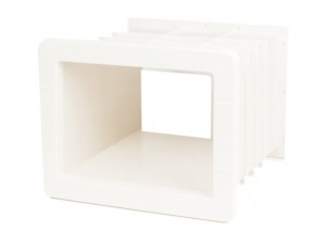 white de luxe skimmer kwadratowy