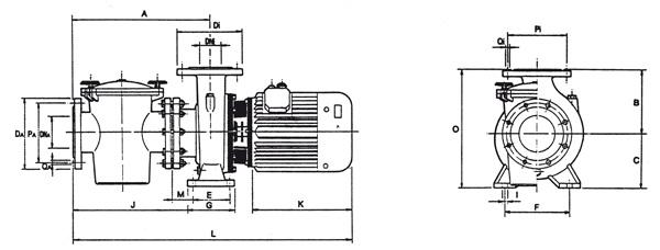 pompa aral c3000 wymiary