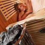 piec do sauny Harvia Kivi zamontowany