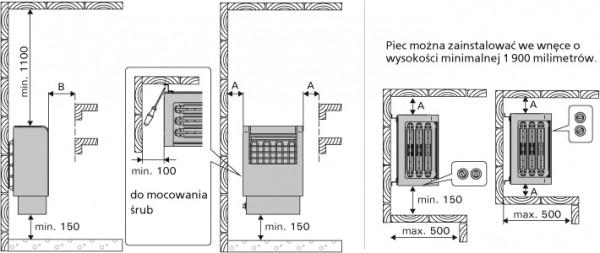 wymiary pieca do sauny Harvia Classic Electro