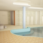 basen wewnętrzny prywatny wizualizacja 3d