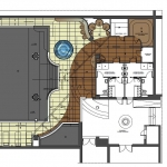 koncepcja wnętrza pomieszczenia basenu hali basenowej