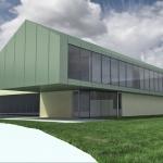 projekt architektoniczny wizualizacja budynku hali basenowej