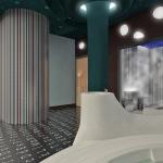 projekt pomieszczenia spa w hotelu z łaźnią parową i sauną fińską