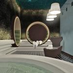 wizualizacja aranżacji wnętrza pomieszczenia spa projekt