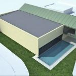 wizualizacja obiektu hali basenu publicznego zewnętrznego i wewnętrznego