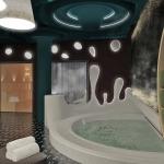 wizualizacja pomieszczania strefy spa wellnes sauna jacuzzi