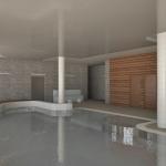 wizualizacja pomieszczenia basenu