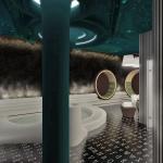 wizualizacja pomieszczenia odnowy biologicznej spa na basenie
