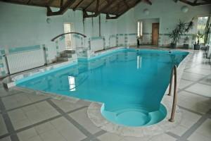 basen prywatny w stylu retro w domu w poznaniu