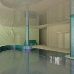basen z ozdobnymi wzorami na ścianach wizualizacja 3d