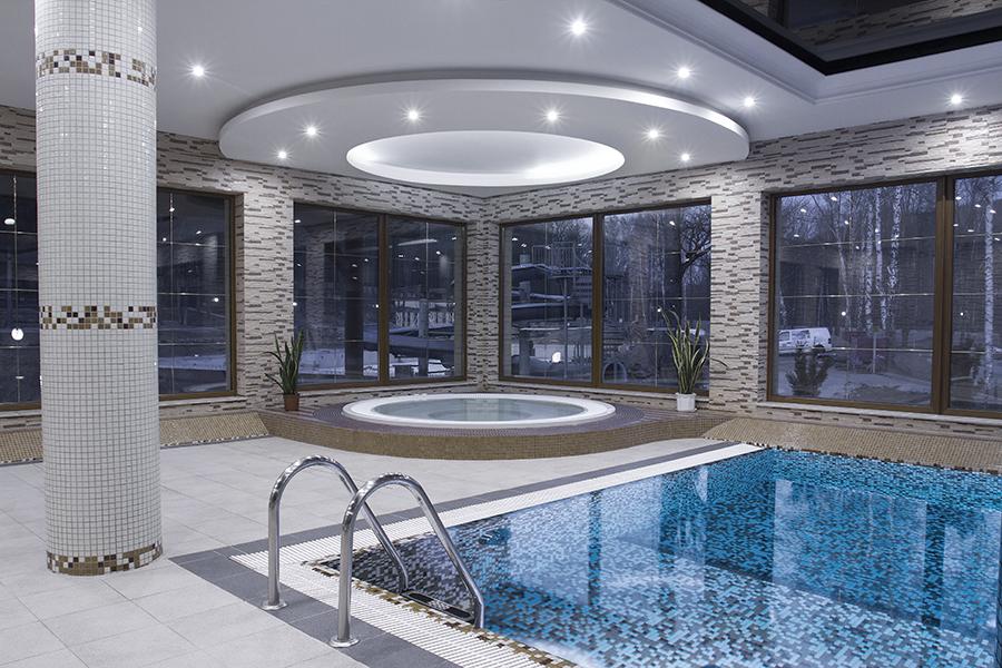 basen z rynną