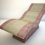 model 3d ławy kamiennej wyłożonej mozaiką ceramiczną wizualizacja