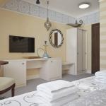 nowoczesny pokój hotelowy aranżacja projektu
