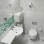 nowoczesny projekt łazienki w hotelu wizualizacja