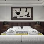nowoczesny współczesny projekt pokoju hotelowego