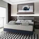 pokój hotelowy aranżacja w stylu nowoczenym z elementami klasycznymi