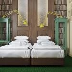 pokój hotelowy projekt wnętrza styl klasyczny wizualizacja 3d