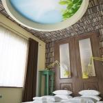pokój hotelowy urządzony w stylu klasycznym projekt