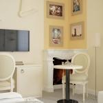 pokój hotelowy w stylu klasycznym projekt wizualizacja aranżacji