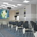 projekt aranżacji wnętrza sali konferencyjno-szkoleniowej