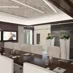 projekt nowoczesnej sali konferencyjnej wizualizacja koncepcji