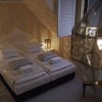 projekt oświetlenia pokoju hotelowego urządzonego w stylu klasycznym