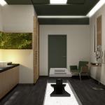projekt pomieszczenia odnowy biologicznej salonu masażu