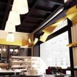 projekt wnętrza nowoczesnej cukierni kawiarni wizualizacja 3d