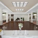 projekt wnętrza sali bankietowej wizualizacja 3d