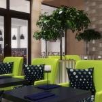 projekt wnętzra restauracji hotelowej wizualizacja 3d