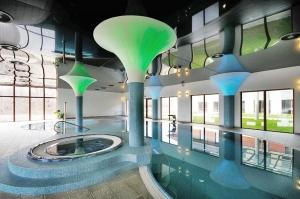 projekt wykonanie nowoczesne wnętrze hali z basenem hotel arkas