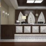 wizaualizacja projektu aranżacji wnętrza recepcji hotelowej