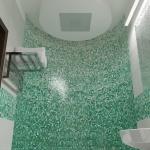 wizualizacja 3d projektu pomieszczenia łazienki z prysznicem i deszczownicą