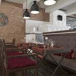 wizualizacja koncepcji aranżacji wnętrza restauracji w stylu klasycznym