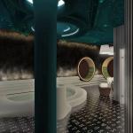 wizualizacja pomieszczenia łaźni z wanną jacuzzi w hotelu