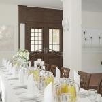 wizualizacja wnętrza sali na przyjęcia aranżacja dekoracji stołu