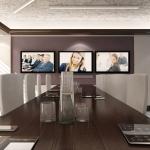 wizualizajca projektu nowoczesnej multimedialnej sali konferencyjnej